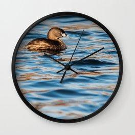 Pied-Billed Grebe - Study 1 Wall Clock