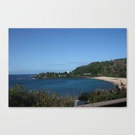 Calm Waimea Bay Canvas Print
