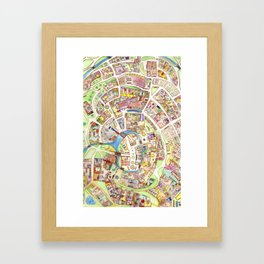Cityplan Framed Art Print
