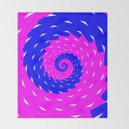 rotation spiral Throw Blanket
