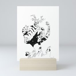 Swamp Thing stomps Mini Art Print