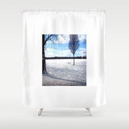 Snow on the Stray Harrogate  Shower Curtain