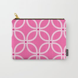 Trellis Pink Carry-All Pouch