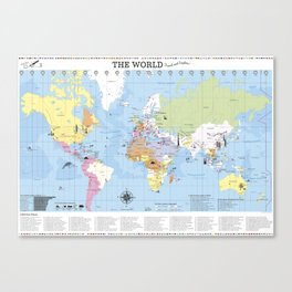 The World –Travel and Explore! Canvas Print