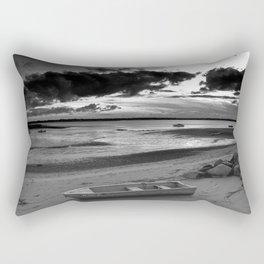 Black and White Sunset Rectangular Pillow