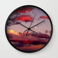 utah Wall Clocks featuring Utah Sunset by Jenna Weil