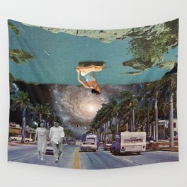 The Mind on Tormented Tides Wall Tapestry