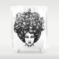 video game Shower Curtains featuring Video Game by LullaBy D