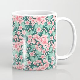 Cherry Blossom spring summer boho floral flower gardening nature botanical nature flowers florals Coffee Mug