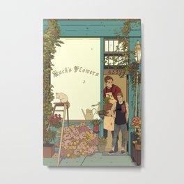 Buck's Flower Shop Metal Print