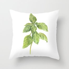 The Basil Plant Throw Pillow