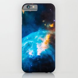 Bubble Nebula, Galaxy Background, Universe Large Print, Space Wall Art Decor, Deep Space Poster iPhone Case