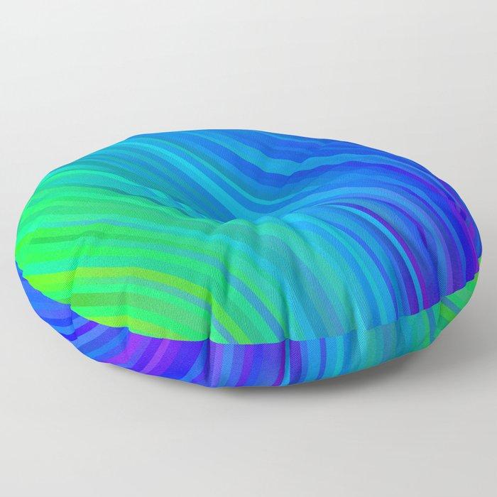 stripes wave pattern 1 stdv Floor Pillow