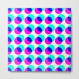 dots pop pattern Metal Print