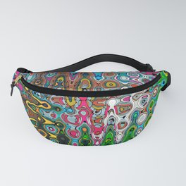 Vibrant Hippie Wiggly Pattern Fanny Pack