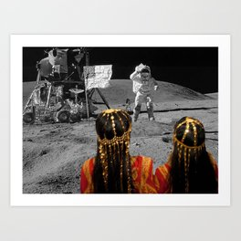 Rgaya and Sabeecha go to the moon Art Print