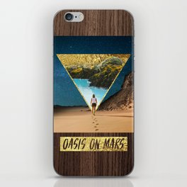 Oasis on Mars iPhone Skin