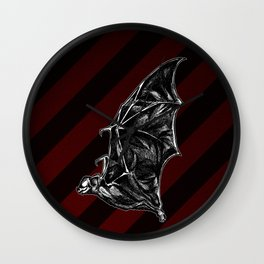 Leather Wings Wall Clock