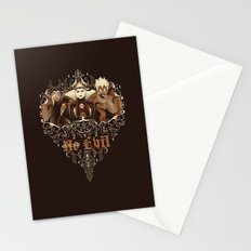 Three Wise Villains Stationery Cards