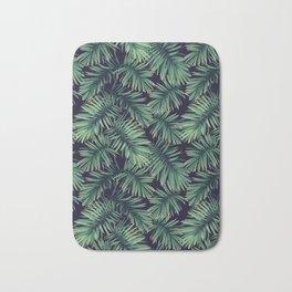 Green palm leaves Bath Mat
