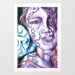 Loves Touch  Art Print