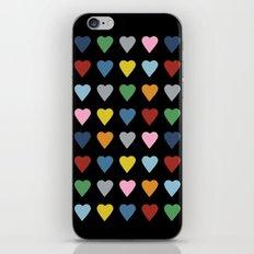 64 Hearts Black iPhone & iPod Skin