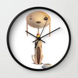 Good Doggie by dana alfonso Wall Clock