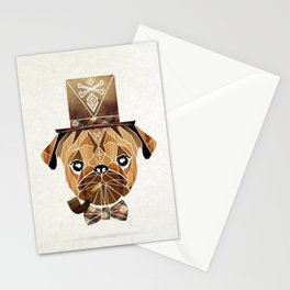 mister pug Stationery Cards