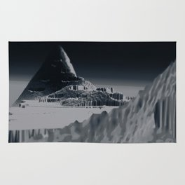 Mountain landscape illustration painting Rug