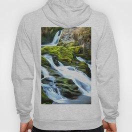 Ingleton Waterfall (Painting) Hoody