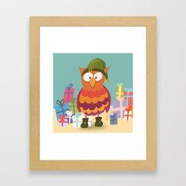 Weihnachtself Ulf Framed Art Print