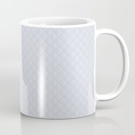 White Wedding Puffy Stitched Quilt With Hint of Blue Coffee Mug
