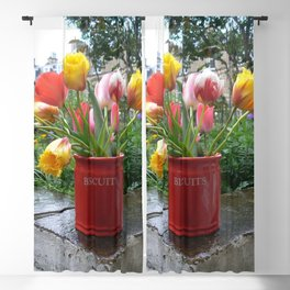 Tulips In A Biscuit Jar Blackout Curtain