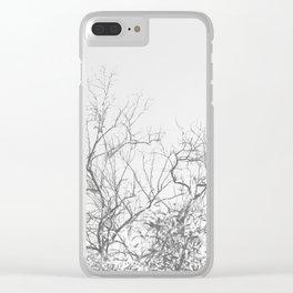 Dark Doom Forest Clear iPhone Case