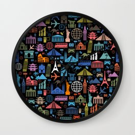 LET'S TRAVEL AROUND THE WORLD!!! Wall Clock