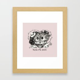 Sugar Skull Couple, It's You and Me, Forever Framed Art Print