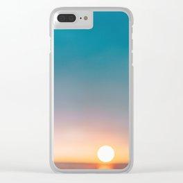 glitter life Clear iPhone Case