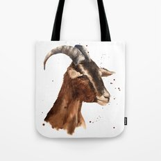 Goat, billy goat, goat painting, goat print, cute animal art, watercolor animals, animal paintings Tote Bag