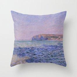 Claude Monet - Shadows on the Sea - Cliffs at Pourville Throw Pillow