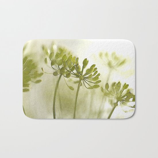 Something green and delicate Bath Mat