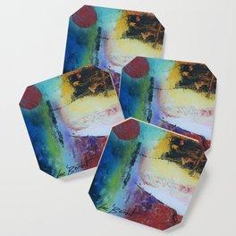 Rising sun colourful abstract acrylic Coaster