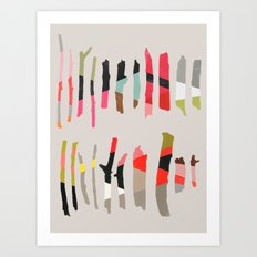 painted twigs 1 Art Print
