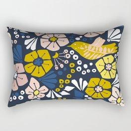 Blue wellness garden - florals matching to design for a happy life Rectangular Pillow