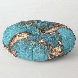 GEMSTONE  & GOLD AQUA Floor Pillow