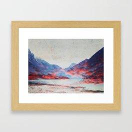 Fall Mountains Framed Art Print