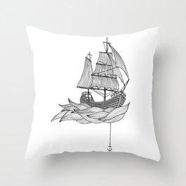 The ship Throw Pillow