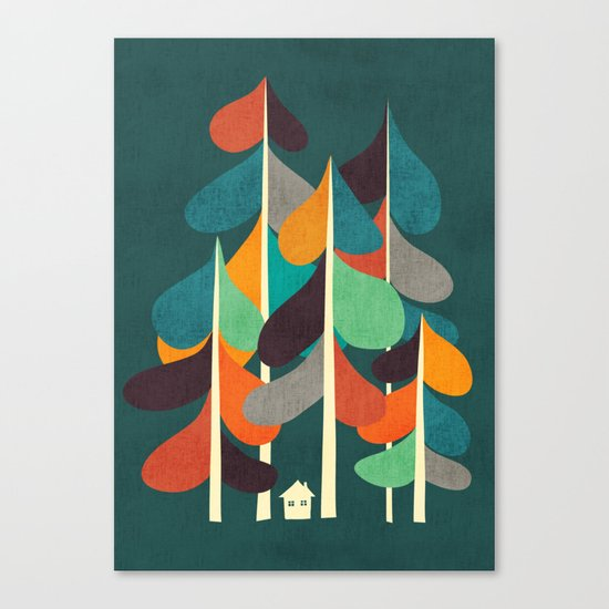 Cabin in the woods Canvas Print