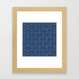 Boho Mod Indigo Framed Art Print