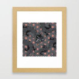 Hidden Dragon / Oriental dragon design Framed Art Print