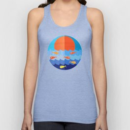 Fish fishing for friends Unisex Tank Top